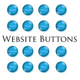 bluen buttons website Arkivbild