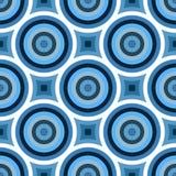 bluen cirklar den skraj modellen royaltyfri illustrationer