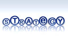 bluen cirklar strategi Fotografering för Bildbyråer