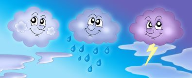 bluen clouds den olika skyen Arkivfoto