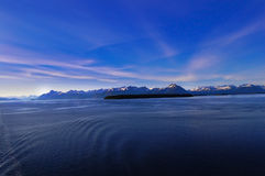 bluen clouds lavendelberg Arkivfoton