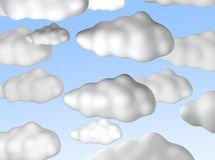 bluen clouds skyen royaltyfri illustrationer