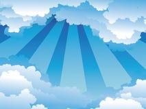 bluen clouds skyen Royaltyfri Bild