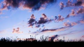 bluen clouds skywhite royaltyfria foton