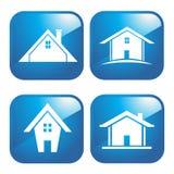 bluen houses symbolen Royaltyfri Bild