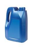 bluen kan oil plast- Arkivbild