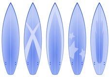 bluen planlägger surfingbrädan Arkivbilder