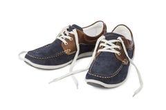 bluen shoes sporten Royaltyfria Foton