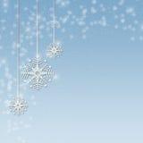 bluen smyckar snowflaken vektor illustrationer