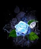 Bluen steg royaltyfri illustrationer