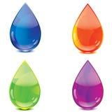 bluen tappar orange purple för grön symbol Arkivfoto
