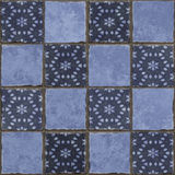 Bluen tiles bakgrund Fotografering för Bildbyråer