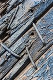 Blue wooden background stock photography