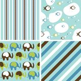 Cute Baby Background Seamless Pattern. Vector illustration vector illustration