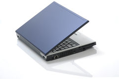 Blueportable computer Royalty Free Stock Photos