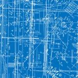 blueprint имитировать инженерства безшовный Стоковые Фотографии RF