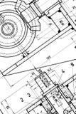 blueprint инженерство Стоковая Фотография