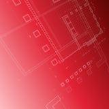 blueprint красный цвет Стоковые Фотографии RF