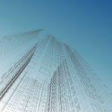 blueprint небоскреб Стоковая Фотография RF
