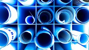 Blueprint Stock Image