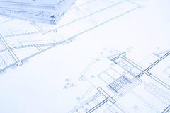 Blueprint. ( Architect  House Plan desing  - Construction Plan Stock Photos