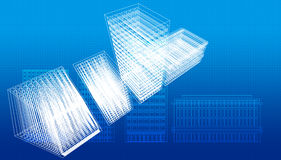 Blueprint. S of buildings and architecture Royalty Free Stock Photography