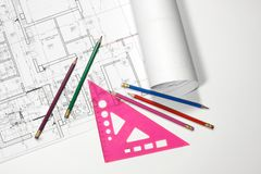 Blueprint Royalty Free Stock Photos