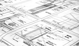 Blueprint. A blueprint for a building Stock Image