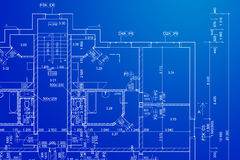 Blueprint. Architectural documentation designed in cad software Royalty Free Stock Photo