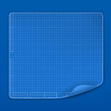 Blueprint. Computer illustration on blue background Royalty Free Stock Photos