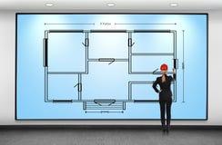 blueprint Imagem de Stock