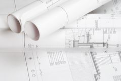 Blueprint Stock Image