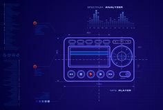 Blueprint. A blueprint of a music player device Royalty Free Stock Photography