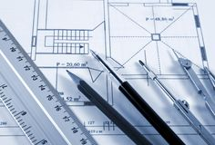 Blueprint royalty free stock images