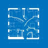 Blueprint abstract Stock Image