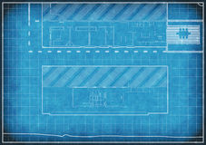 Blueprint of alterations to a house Royalty Free Stock Images