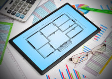 Blueprint apartament Royalty Free Stock Photography