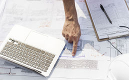 Blueprint Architect Career Structure Construction Concept Stock Photography