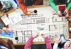 Blueprint Architect Construction Project Sketch Concept Stock Photography