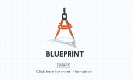 Blueprint Architect Dimensions Project Drafting Concept Royalty Free Stock Images