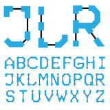Blueprint architectural font 01. Vector EPS8 royalty free illustration