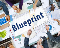 Blueprint Architecture Engineering Detailed Concept Stock Photography