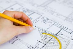 Blueprint architecture Royalty Free Stock Photo