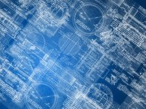 Blueprint background Stock Photos