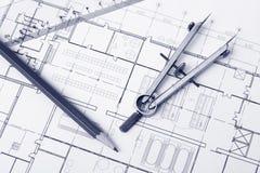 Blueprint background Stock Image
