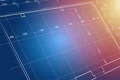 Blueprint background. In 3D view Royalty Free Stock Images
