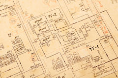 Blueprint background Stock Photo