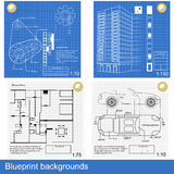 Blueprint backgrounds Royalty Free Stock Photography