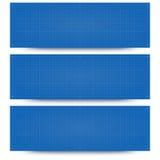 Blueprint banner backgrounds Stock Image