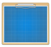 Blueprint bar graph Stock Image